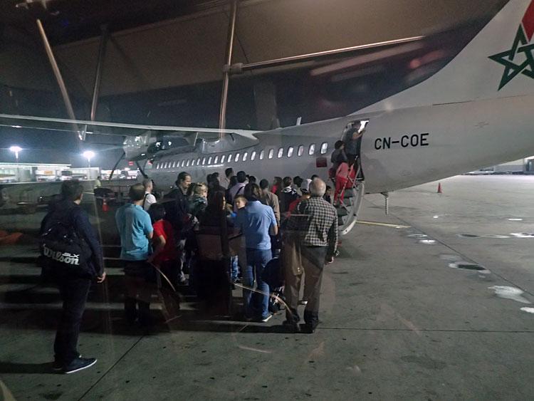 カサブランカ空港で