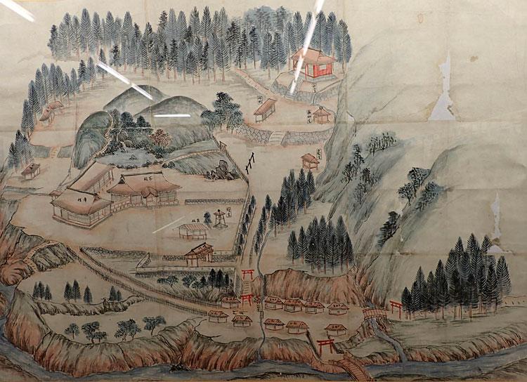 岳明泉寺絵図