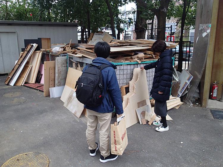 東京芸大ゴミ置場