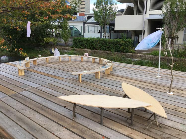 舟型テーブル
