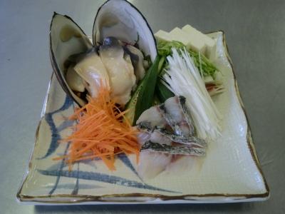 ほっき貝のしゃぶしゃぶ
