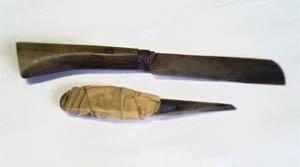 竹を割る道具
