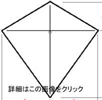 ダイヤ型連凧サイズ