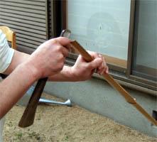 竹を割るー1