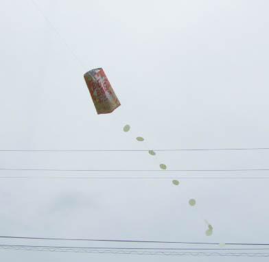 ポテトチップスの袋の凧