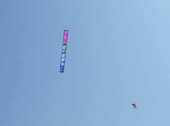 看板のような凧