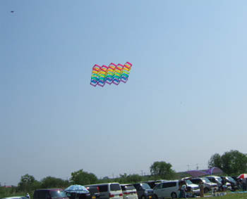 カラフルな立体凧