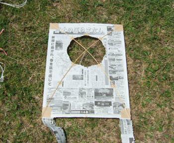新聞紙で作るシンプルカイト