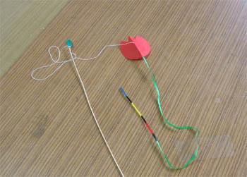 チューリップのミニ凧