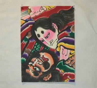 津軽凧絵 「大和武尊と熊襲」