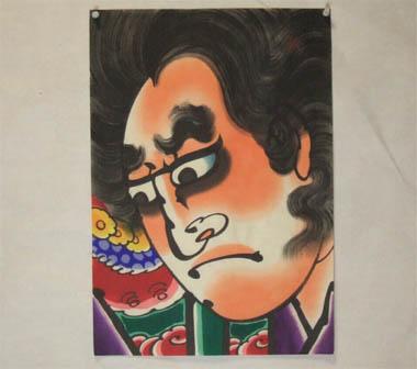 津軽凧絵 男大首5