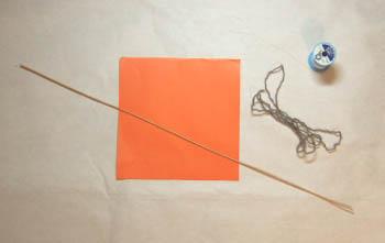 室内用ミニ凧の材料