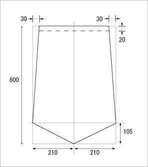 凧作り教室での凧図面