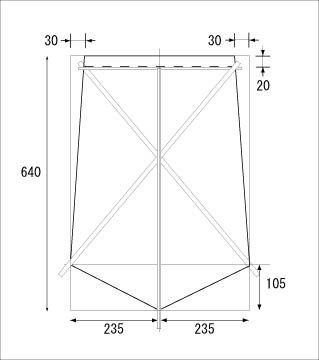 和紙半分で作る場合の図面