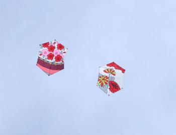 花札の絵の六角凧