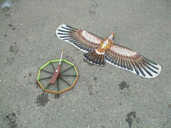 盤鷹と糸巻き