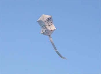 1本糸目の簡単六角凧