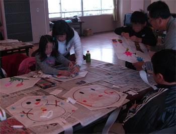 凧作り教室2011