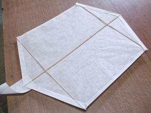 簡単六角凧の骨組み