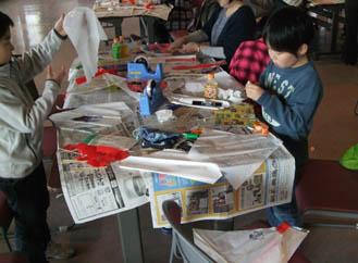 凧作り教室2012