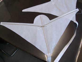 前進翼の骨組み