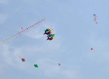 回転する凧
