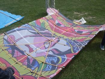 凧の骨組み