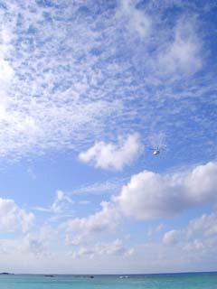 ヘリの飛ぶ空