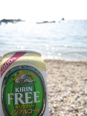 海とノンアルコールビール