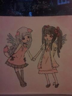ピンクな姉妹