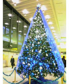 伊丹空港のクリスマスツリー(2008.12)