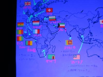 自由研究 ブラックライト 国旗 調べる 照射�