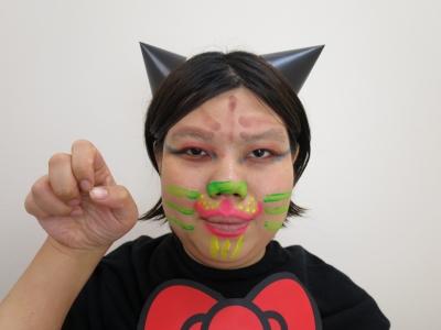 ハロウィン ブラックライト対応 猫 完成�