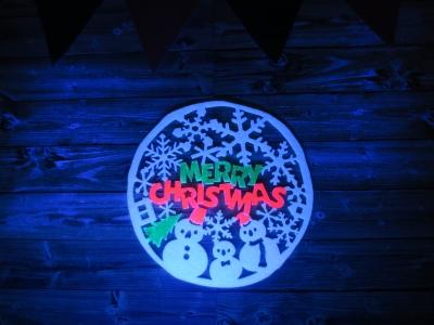クリスマス ブラックライト 飾り ブラックライト 照射