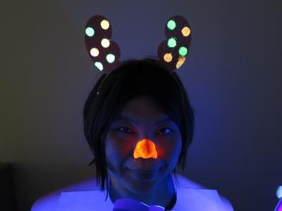 クリスマス トナカイ ブラックライト グッズ ブラックライト 照射