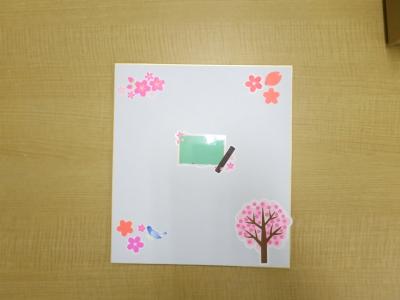 蛍光(ネオン)シール 色紙 配置 完成