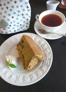 抹茶&小豆シフォン