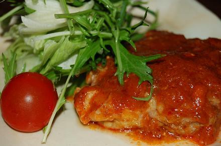 鶏肉のトマトグリル焼き