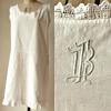1920年代 ドイツ製アンティークリネン裾フリルワンピース
