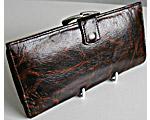 P0007 1970年代マーブルブラウンカラーレザーお財布