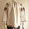 TG093 1910年代ウクライナリネンハンド刺繍ブラウス