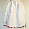 FG243 1910年代ウクライナホームスパンリネン刺繍スカート