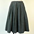 FG271 1910年代ウクライナ製グレーミックスツィード膝丈スカート