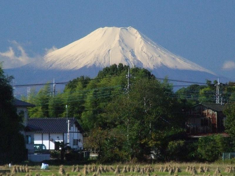 富士見市からの富士山顔合わせ