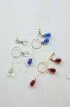 22 2009 DROP broochpin + 2pattern pierced earrings set