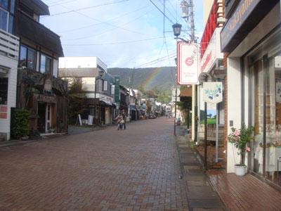 karuizawa 軽井沢 台風後の虹