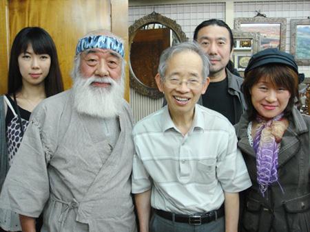 塩野屋博山先生とノボルシオノヤとnicoさんそらさんとシバザキ代表(柴崎恵助)