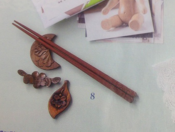 ゼクシィ国内リゾートウエディング完全ガイド 2014 軽井沢彫りシバザキ 箸置きと夫婦円満箸