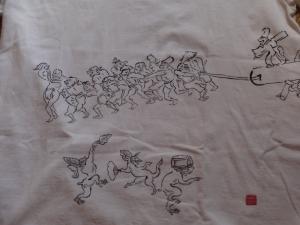 鳥獣戯画Tシャツ3