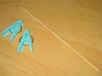 洗濯ハサミ&竹棒